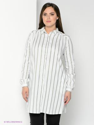 Блузка SUGARLIFE. Цвет: белый, серый