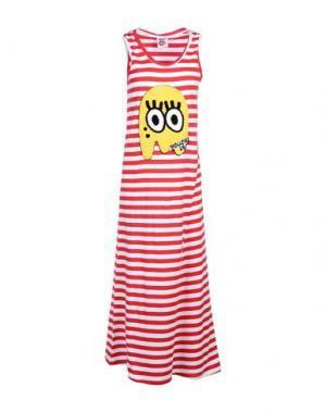 Длинное платье FOLLOW US. Цвет: красный