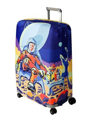 Чехол для чемодана  Mars Beach Club M/L Coverway. Цвет: синий