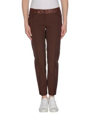 Повседневные брюки BETTY BLUE. Цвет: какао