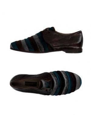 Обувь на шнурках PREVENTI. Цвет: темно-коричневый