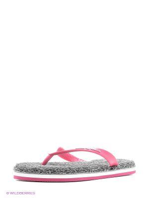Женские тапки CARPET Mad Wave. Цвет: серый, розовый, белый