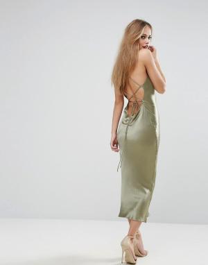 Bec & Bridge Платье Amazonite. Цвет: зеленый