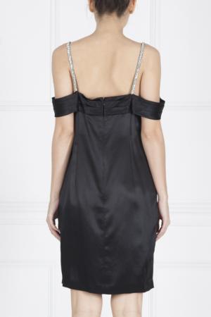 Шелковое платье Jenny Packham. Цвет: черный