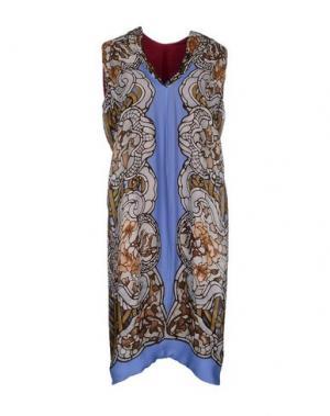 Платье до колена ALBINO. Цвет: зеленый-милитари