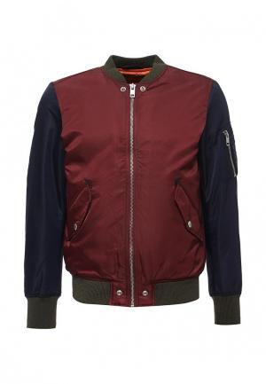 Куртка утепленная Diesel. Цвет: бордовый