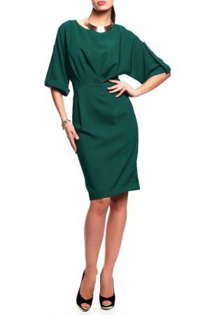 Платье Disetta. Цвет: темно-зеленый