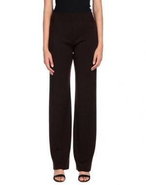 Повседневные брюки VERONIQUE BRANQUINHO. Цвет: темно-коричневый