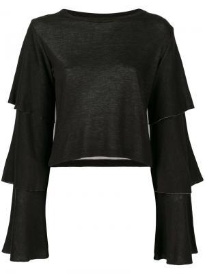 Блузка с многослойными рукавами Dondup. Цвет: чёрный