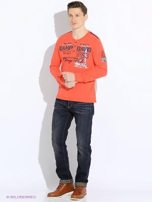 Лонгслив Camp David. Цвет: оранжевый
