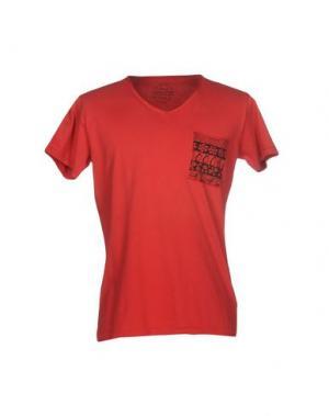 Футболка YES ZEE by ESSENZA. Цвет: красный