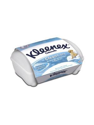 Туалетная бумага влажная пластиковая коробка KLEENEX. Цвет: белый, голубой