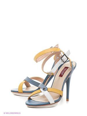 Босоножки MILANA. Цвет: белый, желтый, голубой