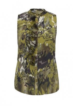 Блуза Sisley. Цвет: зеленый