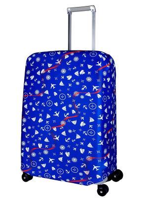 Чехол для чемодана  Traveler M/L Coverway. Цвет: синий