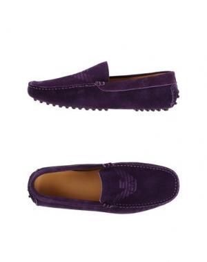 Мокасины EMPORIO ARMANI. Цвет: фиолетовый