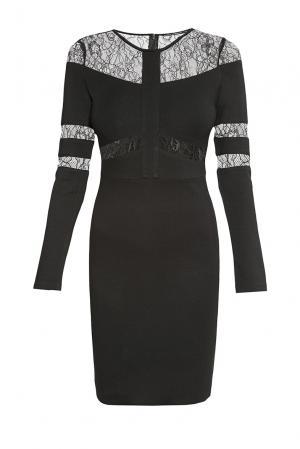 Платье из хлопка 176318 Paola Morena. Цвет: черный