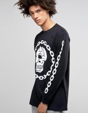 Long Clothing Oversize-лонгслив X Mishka Chain. Цвет: черный