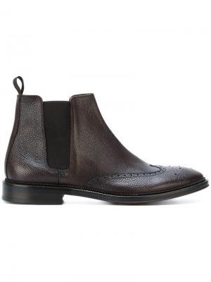 Ботинки Челси Corneliani. Цвет: коричневый
