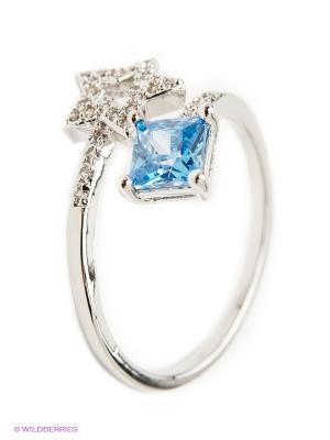Кольцо Royal Diamond. Цвет: голубой
