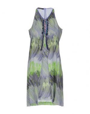 Короткое платье PAOLA FRANI. Цвет: светло-зеленый