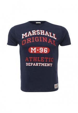 Футболка Marshall Original. Цвет: синий