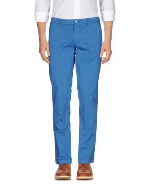 Повседневные брюки MANUEL RITZ WHITE. Цвет: лазурный