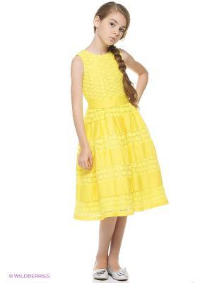 Платье Vitacci. Цвет: желтый