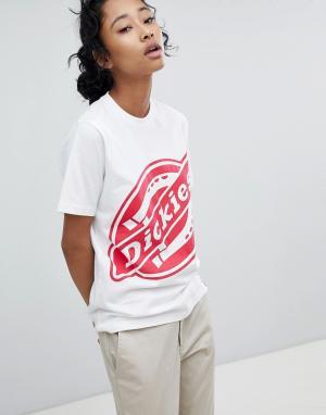 Dickies Oversize-футболка с большим логотипом. Цвет: белый