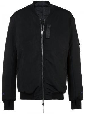 Куртка-бомбер на молнии 11 By Boris Bidjan Saberi. Цвет: чёрный