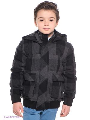Куртка Baby Steen. Цвет: темно-серый, черный