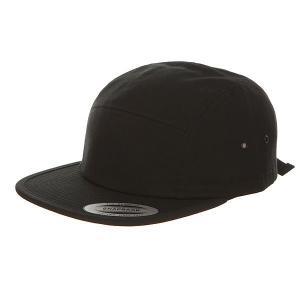 Бейсболка пятипанелька  7005 Black Flexfit. Цвет: черный