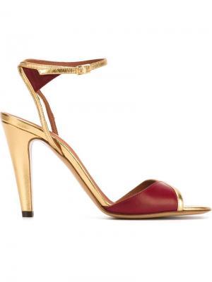 Босоножки на каблуке Michel Vivien. Цвет: красный