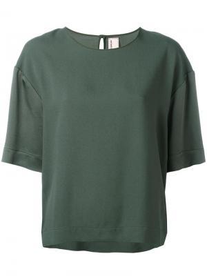 Oversized T-shirt Antonio Marras. Цвет: зелёный