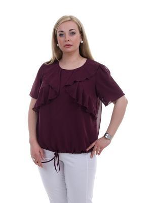 Блуза OLSI. Цвет: темно-бордовый