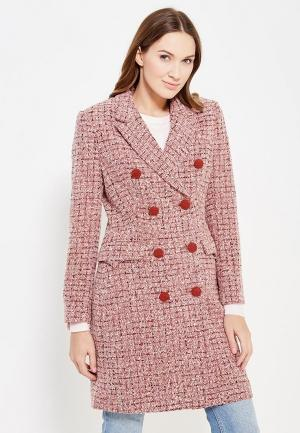 Пальто Soeasy. Цвет: розовый
