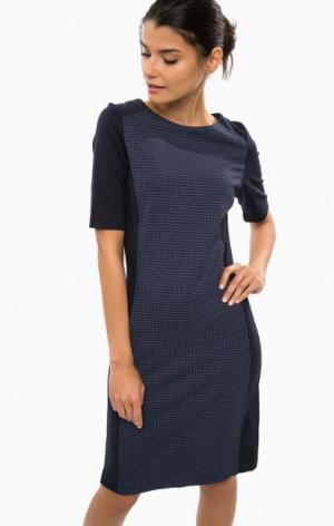 Синее платье из вискозы на молнии olsen. Цвет: синий