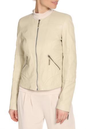 Куртка LEIDIRO. Цвет: бежевый, кожа