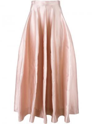 Пышная длинная юбка Natasha Zinko. Цвет: розовый и фиолетовый