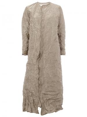 Пальто Clay Toogood. Цвет: металлический