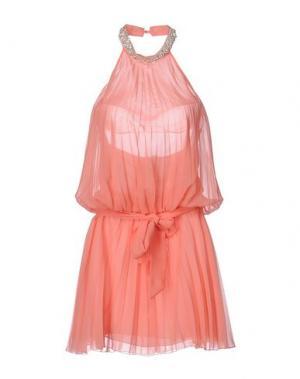 Короткое платье MISS MONEY. Цвет: лососево-розовый