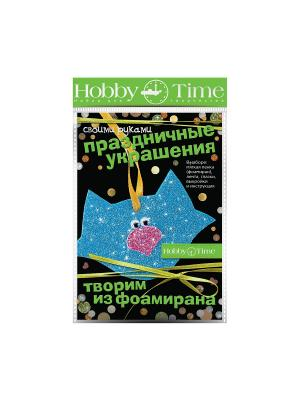 Набор для творчества творим из этиленвинилацетата. праздничные украшения своими руками. котик Альт. Цвет: голубой