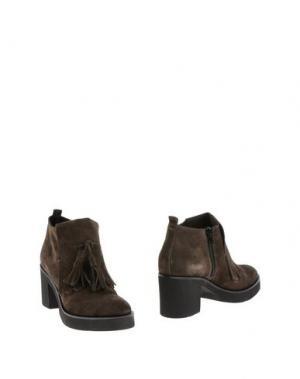 Полусапоги и высокие ботинки CARMENS. Цвет: стальной серый