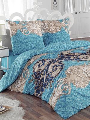 Комплект постельного белья Морозко Тет-а-Тет. Цвет: голубой, бежевый, белый, синий