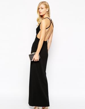 Solace Платье макси с вырезом на спине London Irvin. Цвет: черный
