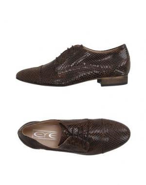 Обувь на шнурках EYE. Цвет: коричневый
