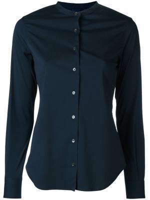 Рубашка с узким воротником-стойкой Aspesi. Цвет: синий