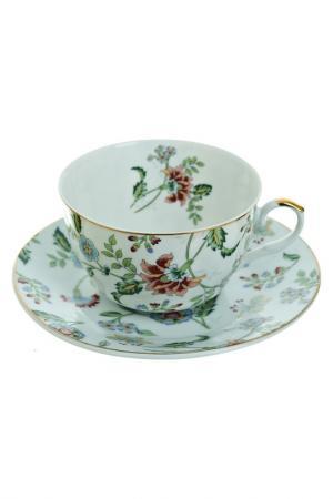Чайный набор 2 пр, 250 мл Best Home Porcelain. Цвет: белый, зеленый