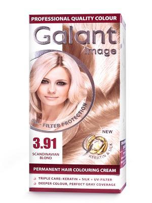 Cтойкая крем-краска для волос  GALANT 3.91 скандинавский супер блонд, 125 мл., (Болгария) Image. Цвет: кремовый