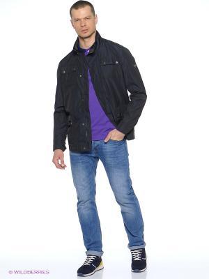 Куртка удлиненная Grishko. Цвет: темно-синий